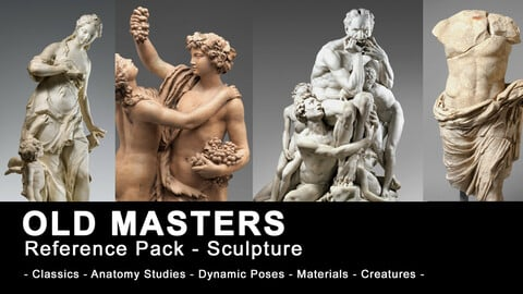 Old Masters - Sculpture Reference for 2D and 3D Artists (780+ High Resolution images)