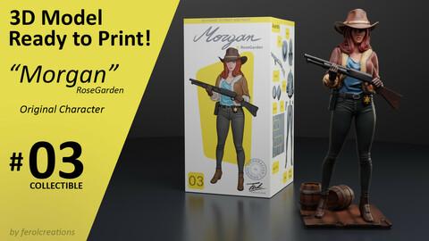Morgan 3D Model Print Collectible 03