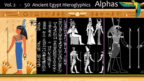 Vol. 2  -         50     Ancient Egypt Hieroglyphics      Alphas