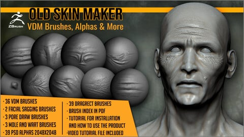 Old Skin Maker: VDM Brushes, Alphas and More