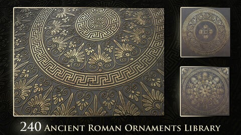 240 Ancient Roman Ornaments Library