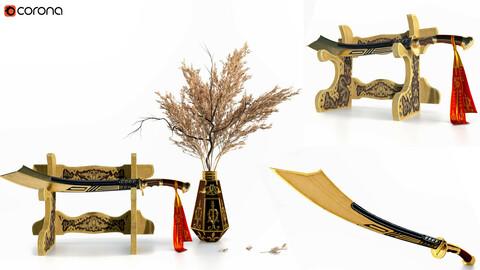 Decorative Set Vol 6 Sword and Pampas