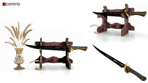 Decorative Set Vol 7 Sword and Wheat