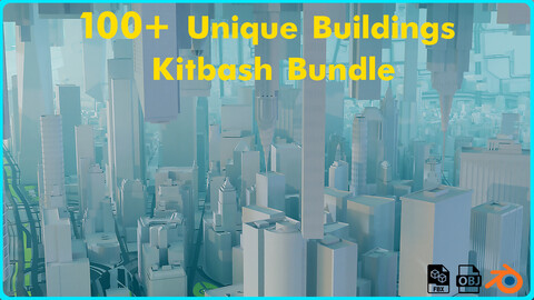 100+ Unique Building Kitbash Bundle