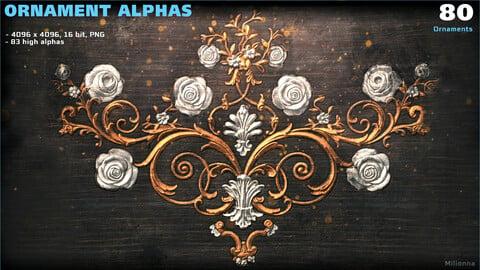80 Ornament Alphas (PNG)
