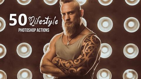 50 Lifestyle Photoshop Actions