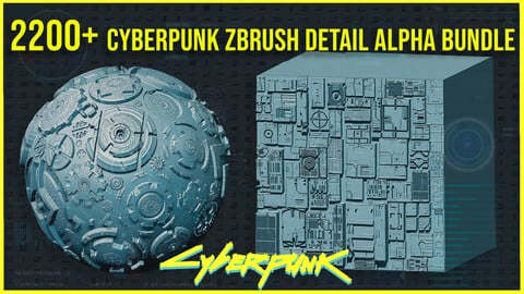 2200+ CyberPunk Sci-fi Alpha/Height Bundle + Normal Maps