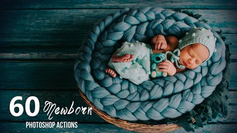 60 Newborn Photoshop Actions