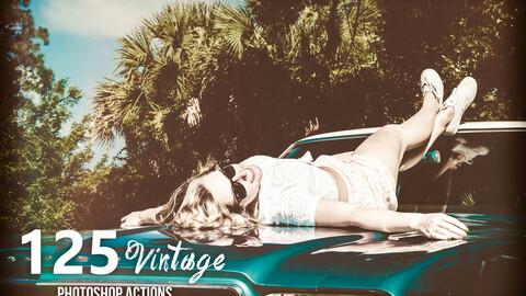 125 Vintage Photoshop Actions