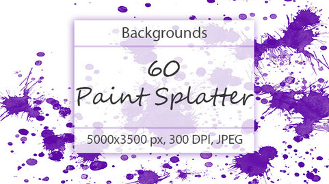 60 Paint Splatter Backgrounds