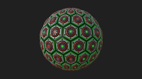 Hexagon SciFi Metallic Panels