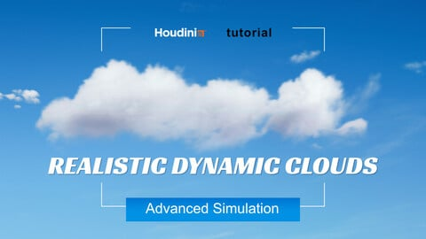 Houdini Tutorial | Realistic Dynamic Clouds - Advanced Simulation