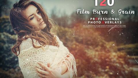 120 Film Burn and Grain Photo Overlays