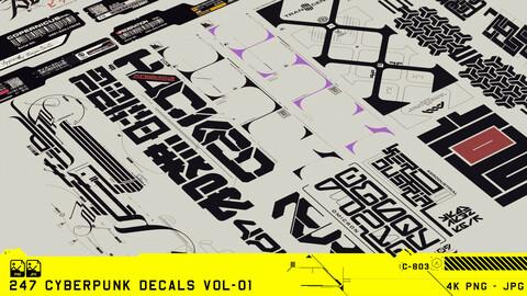 247 Cyberpunk Decals Vol-01