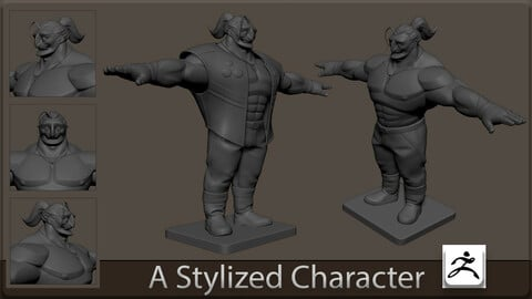 A stylized character  | High Poly