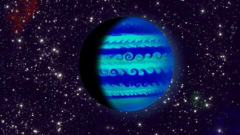 Big Blue the gas giant | digital illustration