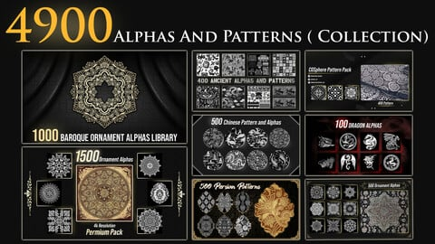 4900 Ornament Alphas And Patterns ( Largest Ornament Library) 4k