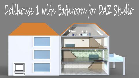 Dollhouse 1 with Bathroom for DAZ Studio