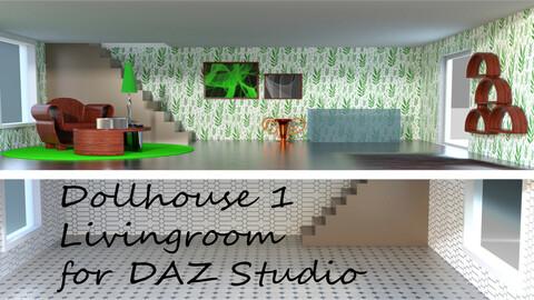 Livingroom for Dollhouse 1 for DAZ Studio