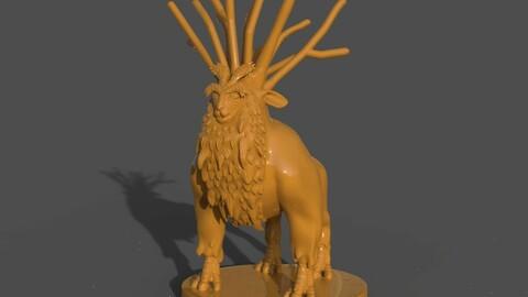 Deer God and ZBrush Timelapse