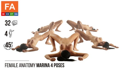 Female Anatomy | Marina 4 Various Poses #1 | 32 Photos