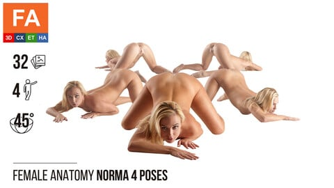 Female Anatomy | Norma 4 Various Poses #1 | 32 Photos