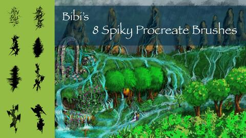 8 Spiky Procreate Brushes