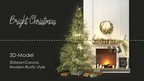 3disModel-005:  Bright Christmas [Decorative Set]
