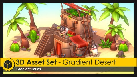 3D Asset Set - Gradient Desert