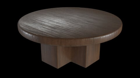Heavy Circular Table Low-poly 3D model