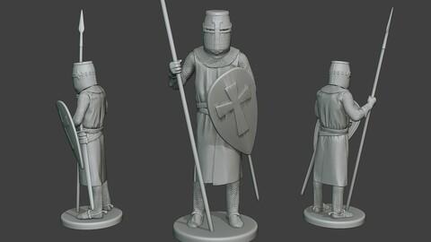 Knight Templar Stand Spear T1
