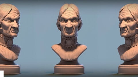 Haunted Mansion Female Bust 3D printable model