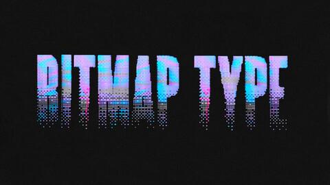 BITMAP TYPE - RETRO VHS TYPEFACE