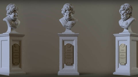 Haunted Mansion Aunt Florence 3D Printable Bust 3D print model