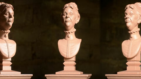 Haunted Mansion Cousin Maude 3D Printable Bust 3D print model