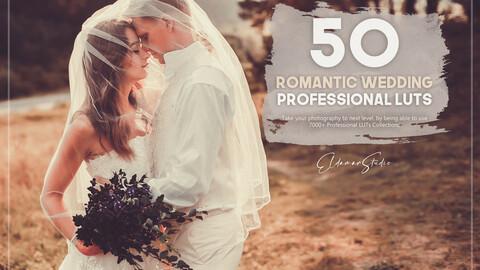 50 Romantic Wedding LUTs Pack
