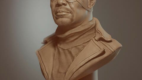 Nick Fury Bust for 3D printing