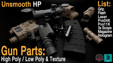 Gun Parts High / Low Mesh & Texture