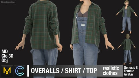 Female outfit / Marvelous Designer / Clo 3D project + obj