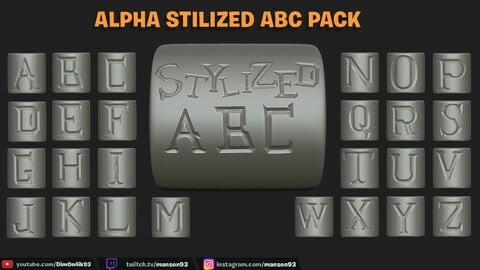 Stylized ABC Alpha pack