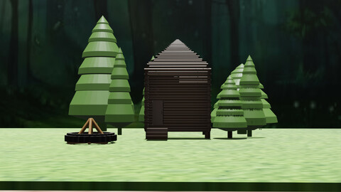 уютный домик в лесу /  cozy house in the woods