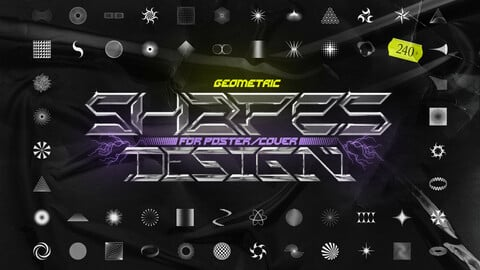 Geometric shapes pack for poster and cover design