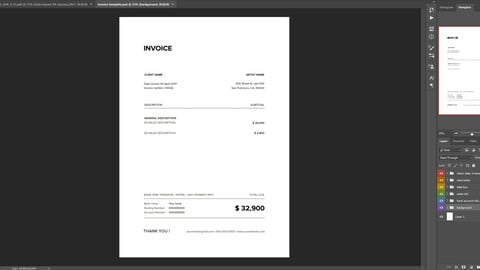 INVOICE template for artists