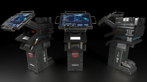 Sci-Fi Console 3D model