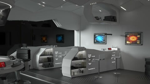 Sci Fi Interior Station 3D model