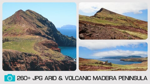 ARID & VOLCANIC MADEIRA PENINSULA - Photo reference pack - 260+ JPG
