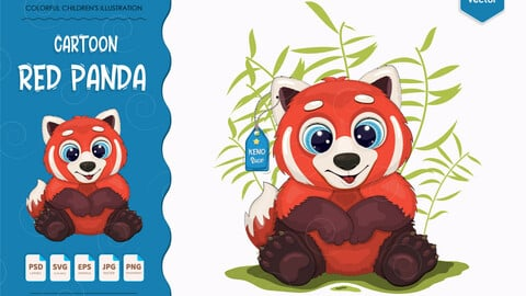 Big cartoon red panda.