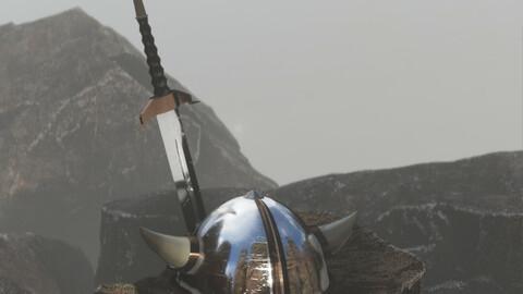 Viking Helmet (Sword Optional)