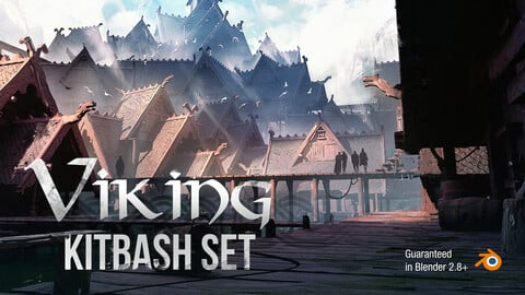 Viking Village KitBash Set For Concept Art
