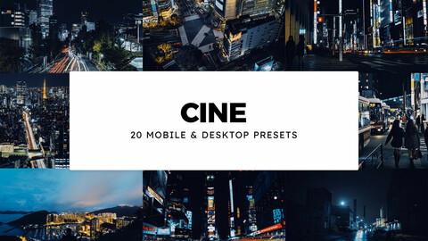 20 Cine LUTs and Lightroom Presets